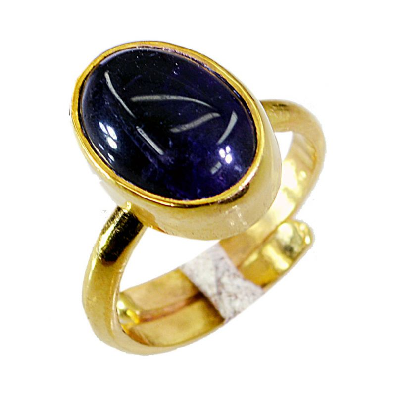 Buy Riyo Amethyst 18c Ygold Plating Purity Ring Jewelry Sz 5 Gprame5-2010 online