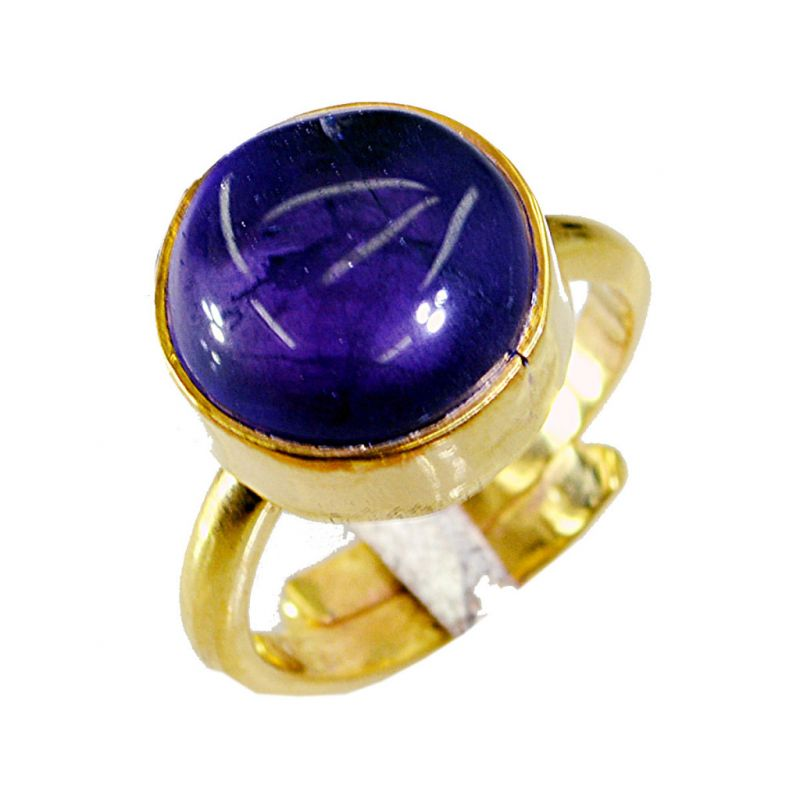 Buy Riyo Amethyst 18 Kt Gold Plated Classic Day Rings online