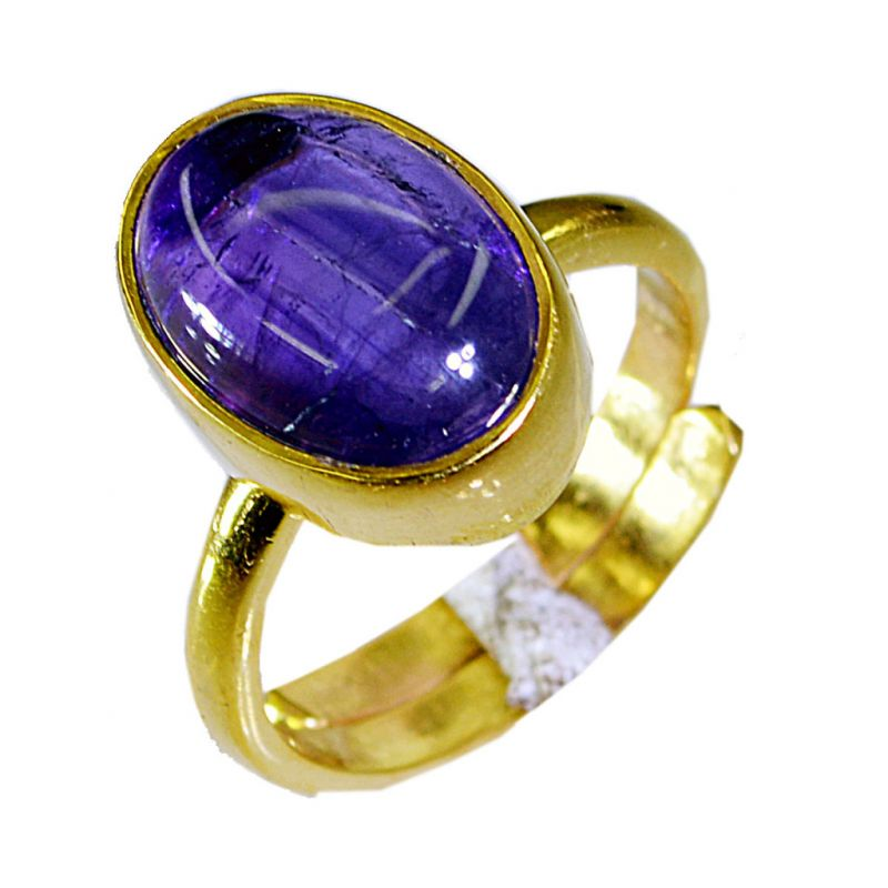 Buy Riyo Amethyst 18k Gold Plated Mothers Ring Sz 6.5 Gprame6.5-2029 online