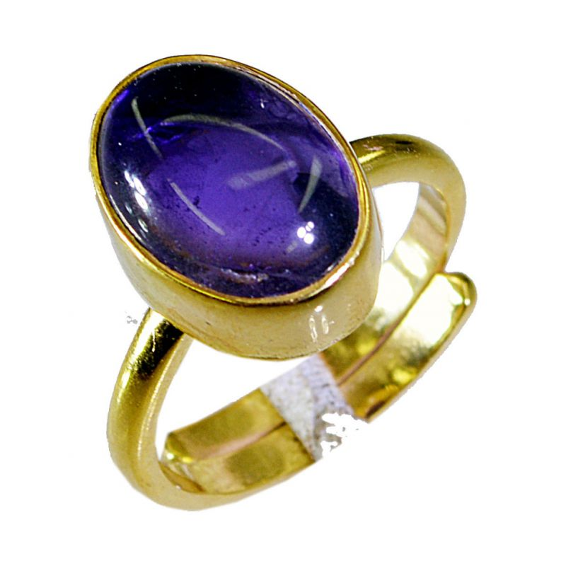 Buy Riyo Amethyst Gold Plated India Thumb Ring Sz 7 Gprame7-2036 online