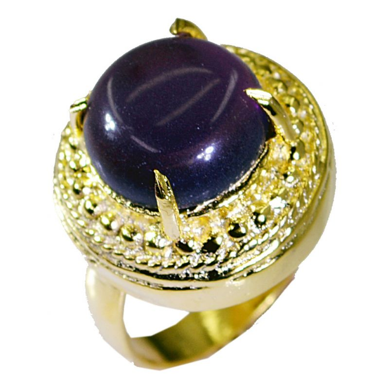 Buy Riyo Amethyst Jewelry Gold Plated Toe Ring Jewelry Sz 7 Gprame7-2045 online