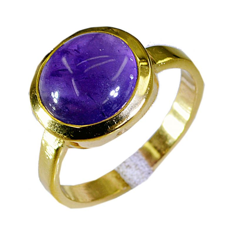 Buy Riyo Amethyst Gold Plate Wedding Ring Jewelry Sz 8 Gprame8-2038 online