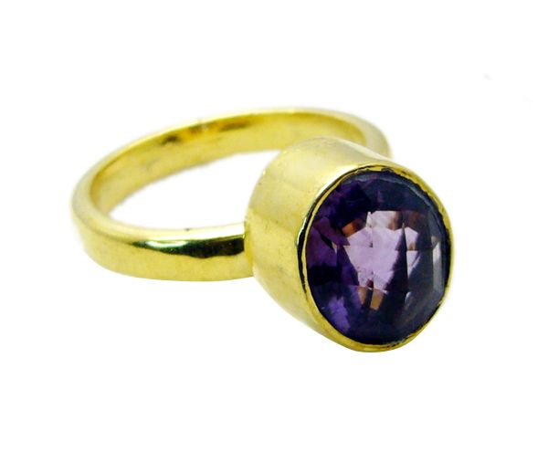 Buy Riyo Amethyst 18 C Gold Plated Guard Ring Sz 9 Gprame9-2061 online
