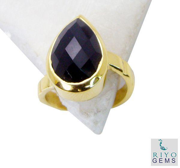 Buy Riyo Black Onyx Buy Gold Plated Jewelry Toe Ring Jewelry Sz 7 Gprbon7-6018 online