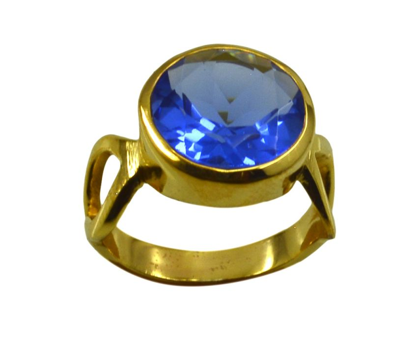 Buy Riyo A Blue Saphire Cz 18kt Gold Plated Reliable Ring Gprbscz70-90046 online