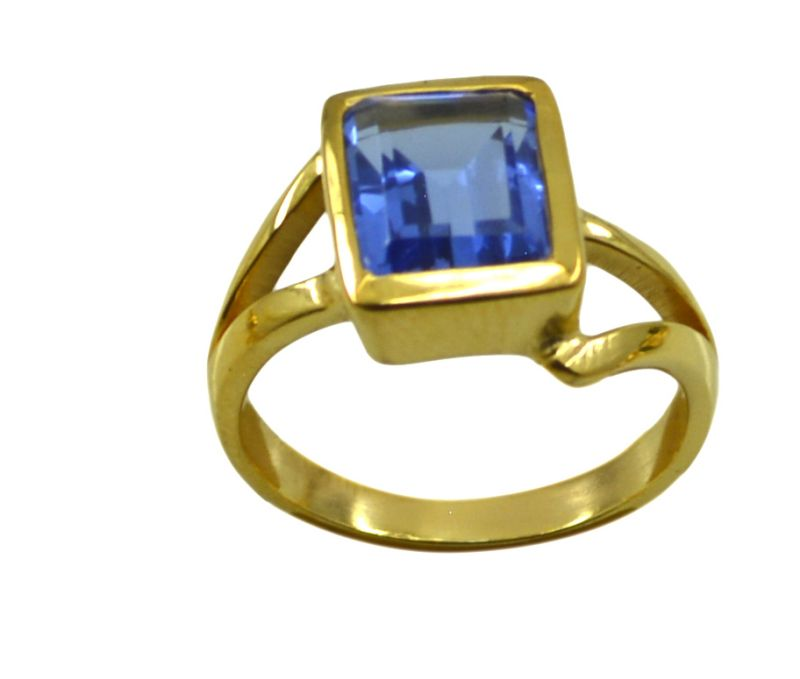 Buy Riyo A Blue Saphire Cz 18kt Gold Plated Scratchresistant Ring Gprbscz80-90037 online