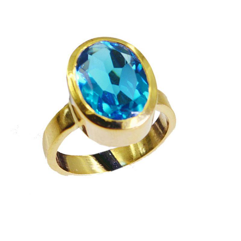 Buy Riyo Blue Topaz Cz Rhodium Plate Wedding Ring Jewelry Sz 6.5 Gprbtcz6.5-92008 online