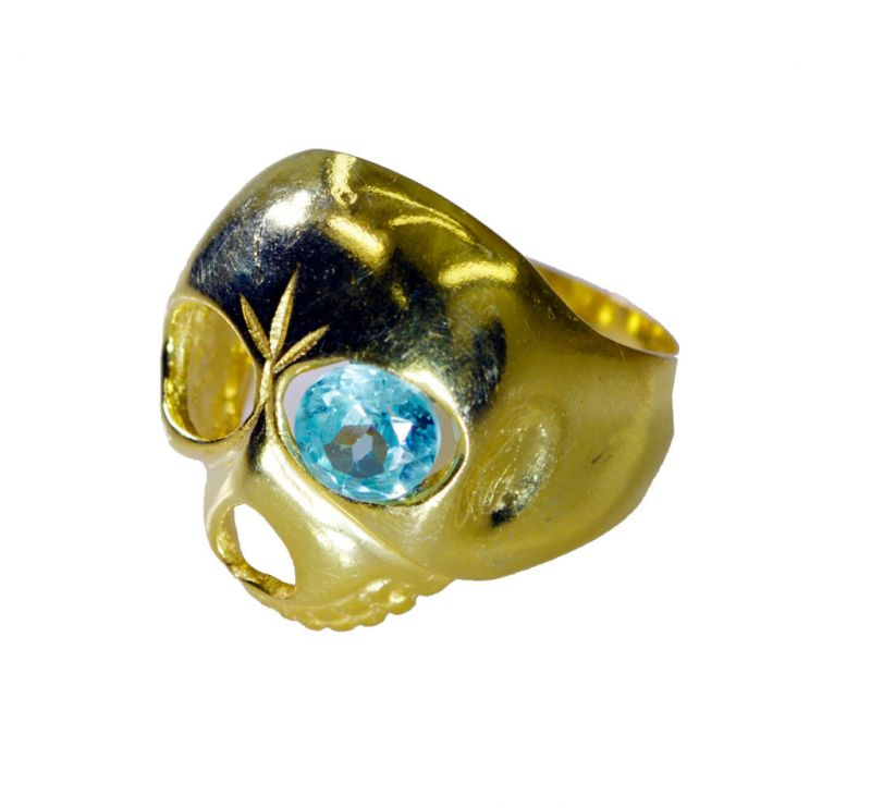 Buy Riyo Blue Topaz Cz 18 C Gold Plating Ring Sz 7 Gprbtcz7-92089 online