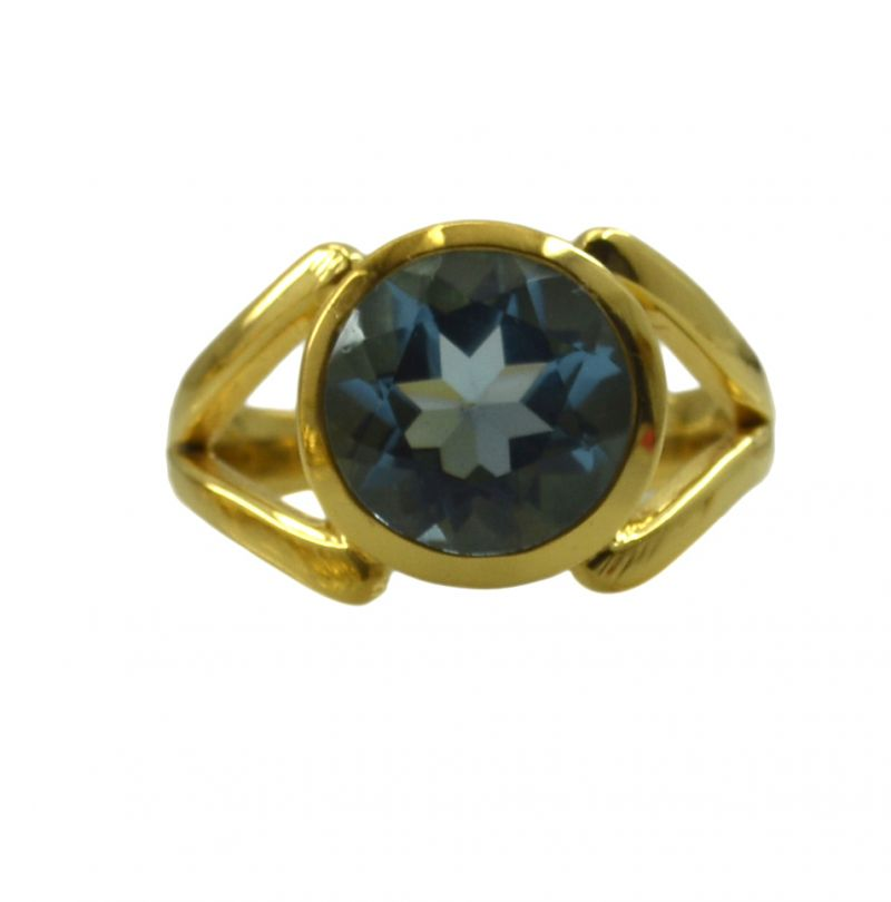 Buy Riyo A Blue Topaz Cz 18kt Gold Plated Stunning Ring Gprbtcz70-92132 online