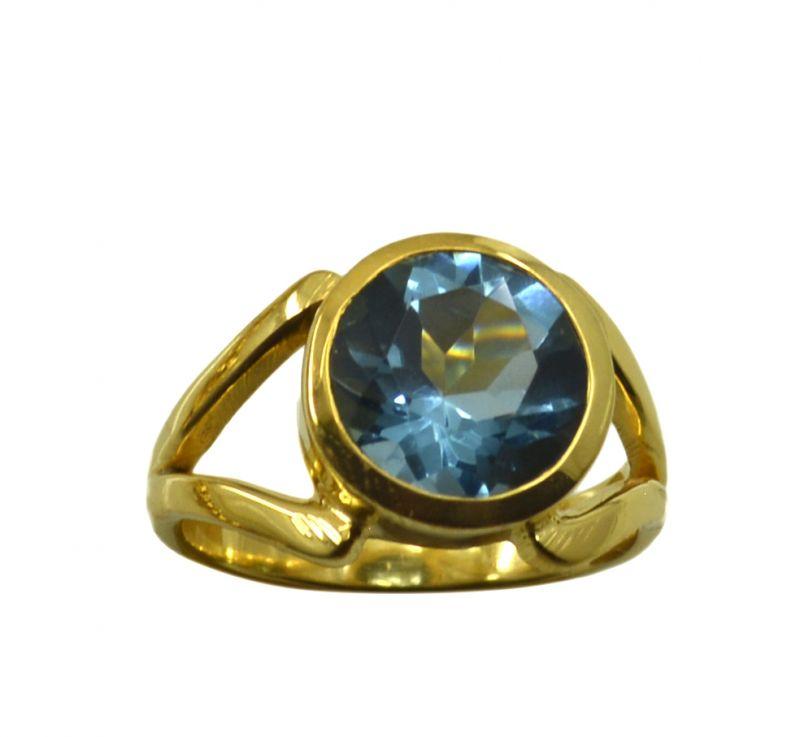 Buy Riyo A Blue Topaz Cz 18kt Gold Plated Sparkling Ring Gprbtcz75-92133 online
