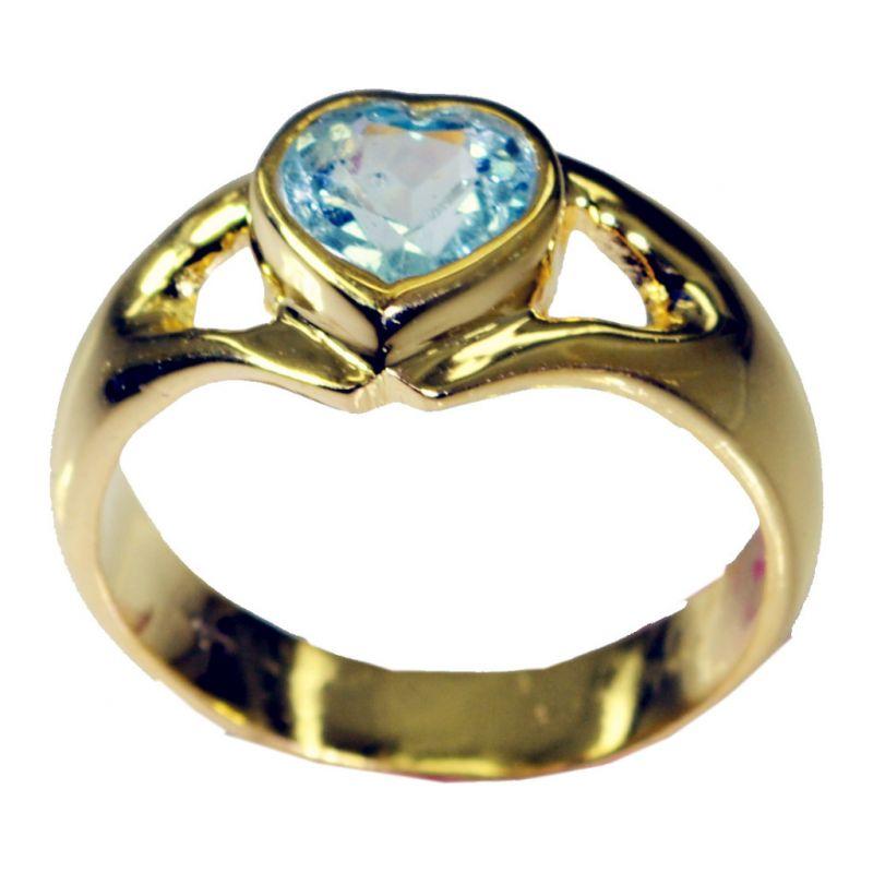 Buy Riyo Blue Topaz Cz Gold Plated India Sovereign Ring Sz 8.5 Gprbtcz8.5-92037 online