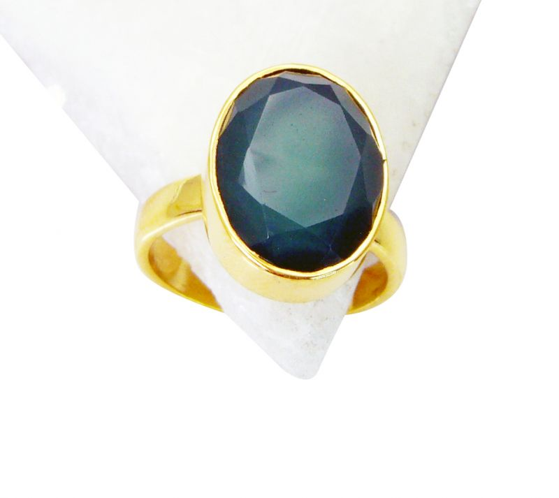 Buy Riyo Green Onyx 18c Gold Plated Aqiq Ring Sz 8 Gprgon8-30046 online