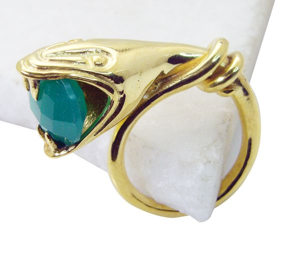 Buy Riyo Green Onyx Gold Plated Ring Sz 8 Gprgon8-30074 online