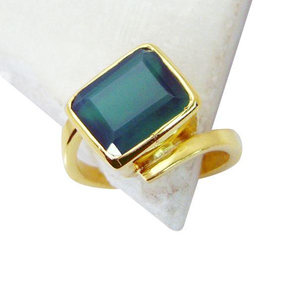 Buy Riyo Green Onyx 18 Kt Gold Platings Claddagh Ring Sz 8.5 Gprgon8.5-30050 online