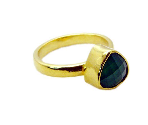 Buy Riyo Green Onyx Rhodium Plate Classic Day Rings Sz 9 Gprgon9-30052 online