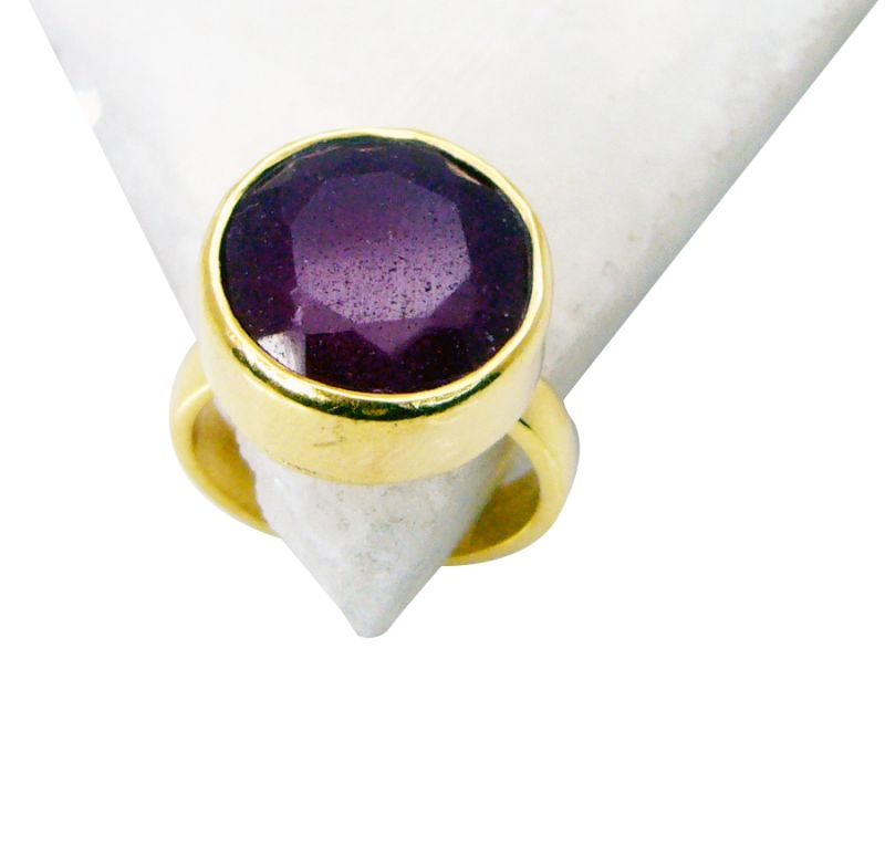 Buy Riyo Indi Ruby 18kt Y Gold Plating Bridal Rings Sz 5 Gpriru5-34002 online