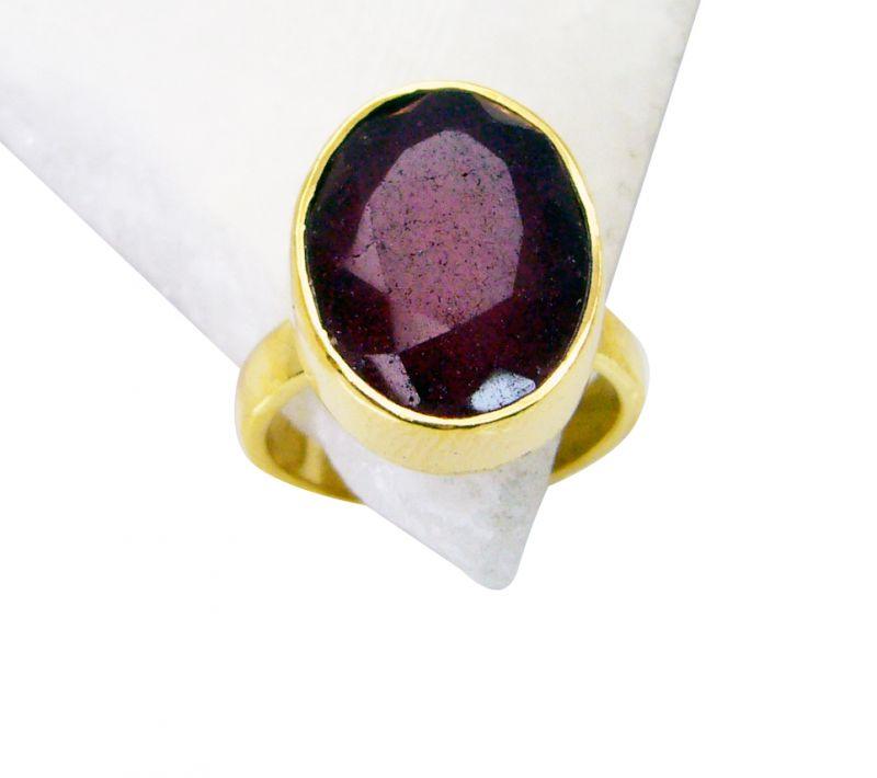 Buy Riyo Indi Ruby 18k Gold Plated Eternity Ring Sz 6 Gpriru6-34014 online