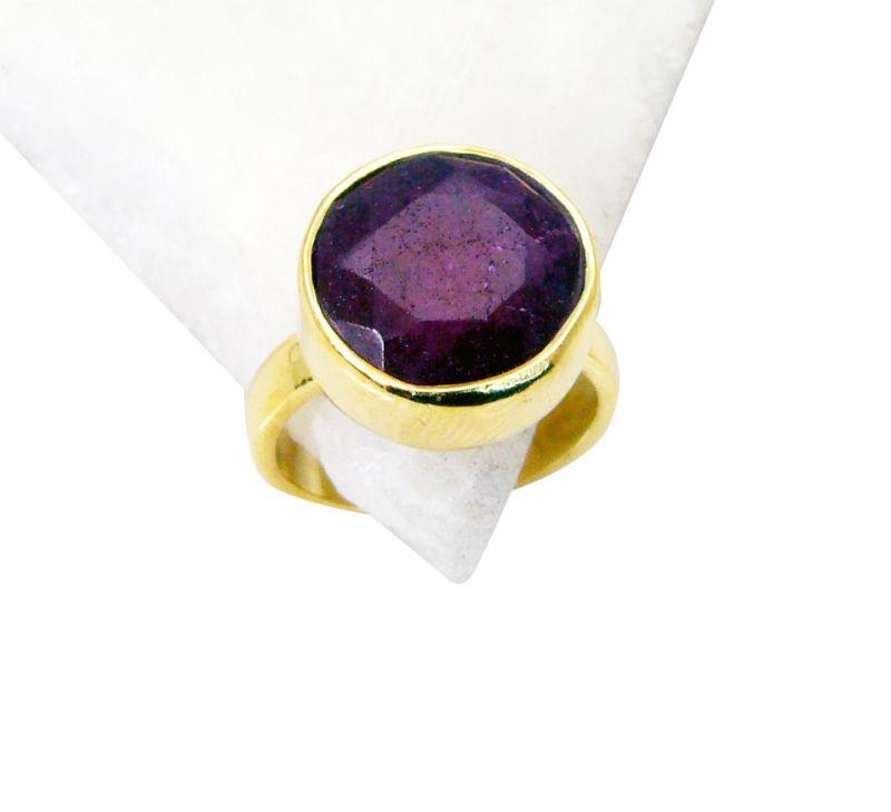 Buy Riyo Indi Ruby Gold Plated India Ring Sz 7 Gpriru7-34024 online