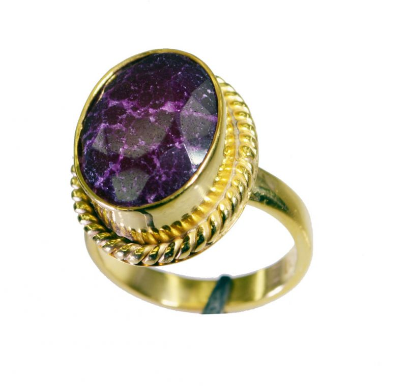 Buy Riyo Indi Ruby 18.kt Gold Plated Promise Ring Sz 7 Gpriru7-34064 online