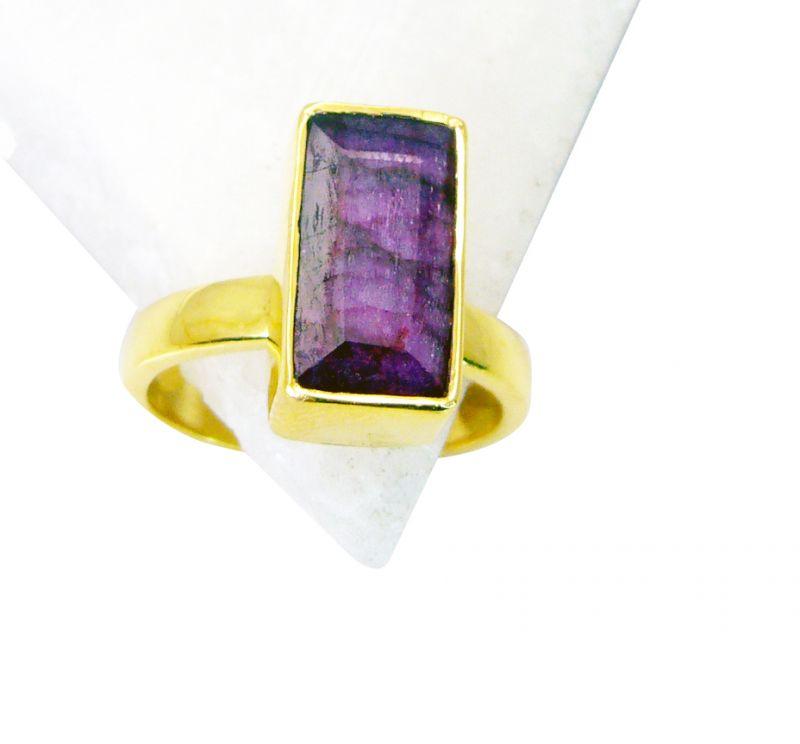 Buy Riyo Indi Ruby Gold Plated Jewelry Set Thumb Ring Sz 8 Gpriru8-34032 online