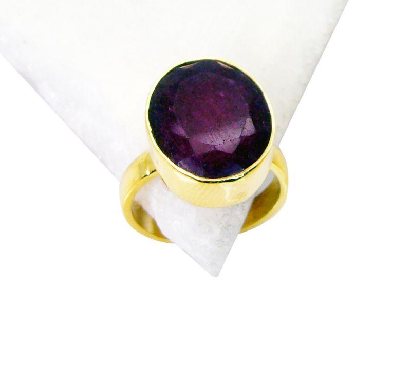 Buy Riyo Indi Ruby Indian Gold Plate Bridal Rings Sz 8 Gpriru8-34038 online