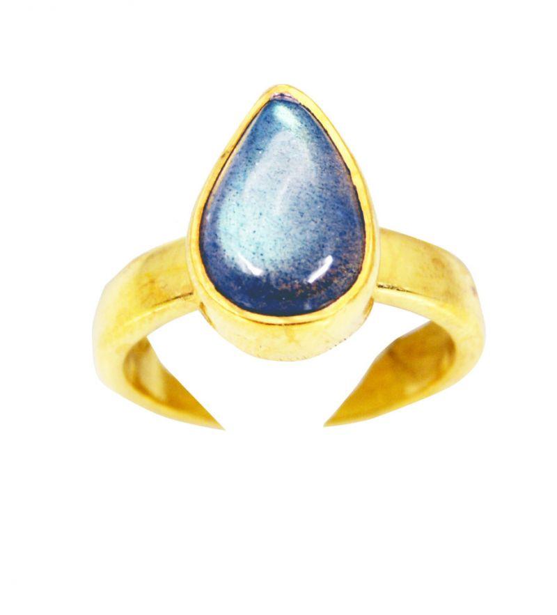 Buy Riyo Labradorite Gold Plated India Friendship Ring Sz 5 Gprlab5-42001 online
