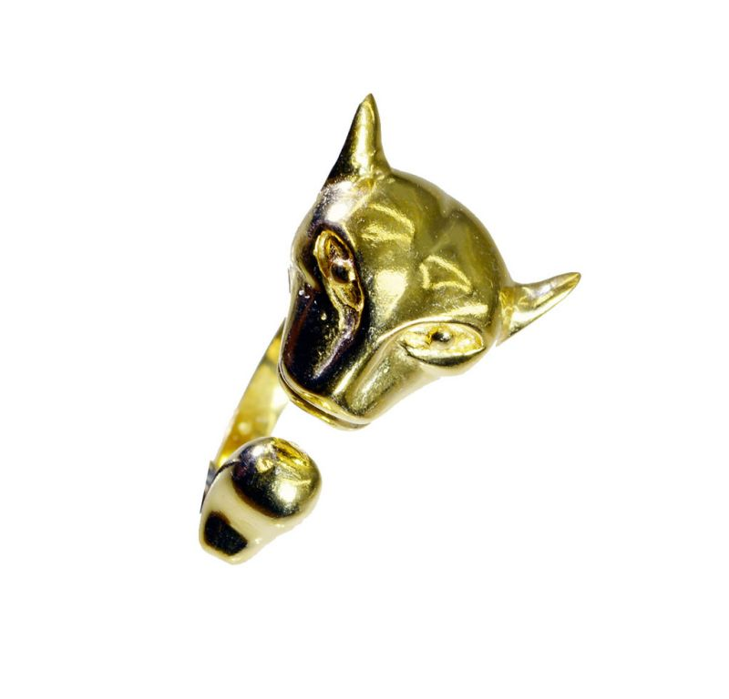 Buy Riyo A Plain 18kt Gold Plated Leopard Ring Gprleo75-220003 online