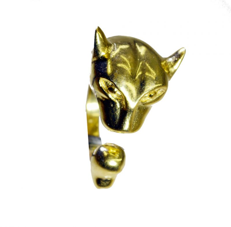 Buy Riyo A Plain 18kt Gold Plated Leopard Ring Gprleo80-220004 online