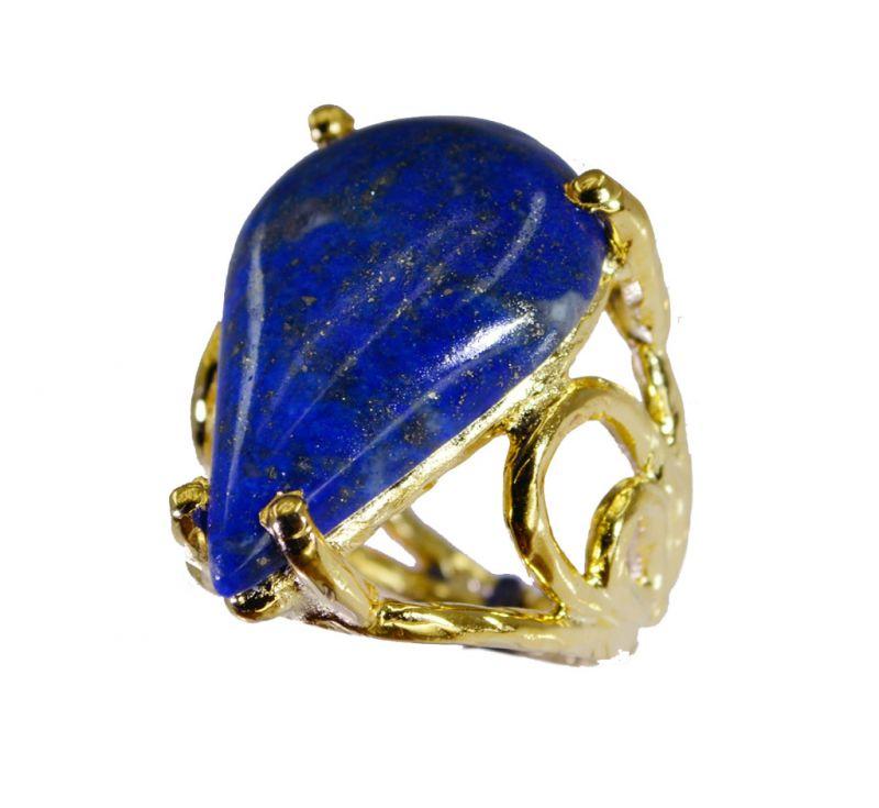 Buy Riyo Lapis Lazuli 18.kt Gold Platings Birthstones Ring Sz 5 Gprlla5-44047 online