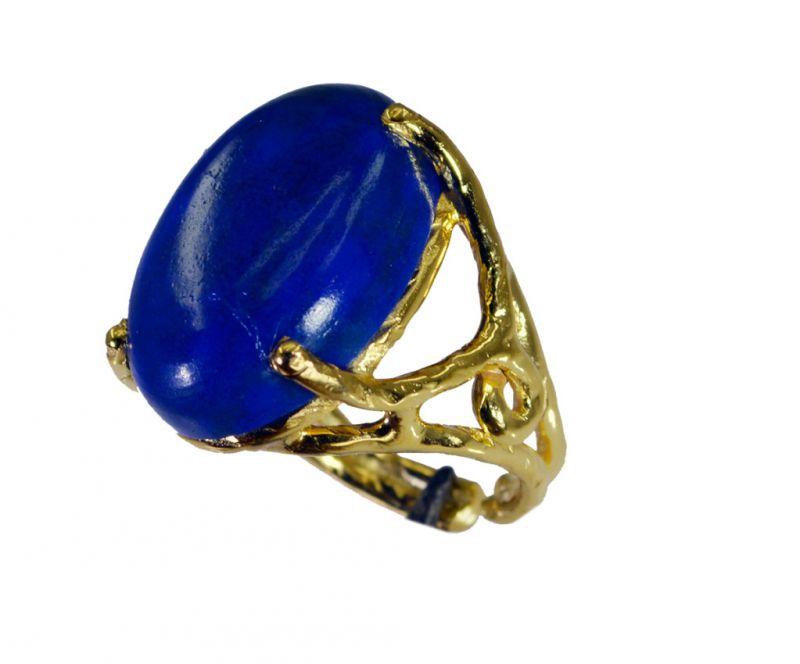 Buy Riyo Lapis Lazuli 18kt Gold Plating Classic Day Rings Sz 6.5 Gprlla6.5-44064 online