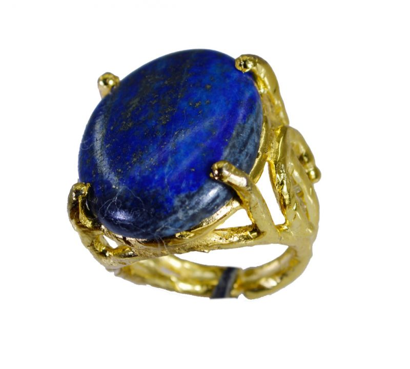 Buy Riyo Lapis Lazuli 18.kt Gold Plating Mothers Ring Sz 7 Gprlla7-44070 online
