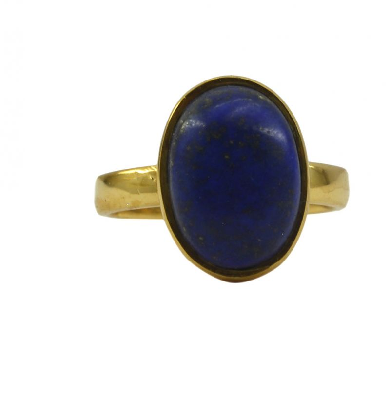 Buy Riyo Blue Lapis Lazuli 18kt Gold Plated Flexible Ring Gprlla70-44101 online