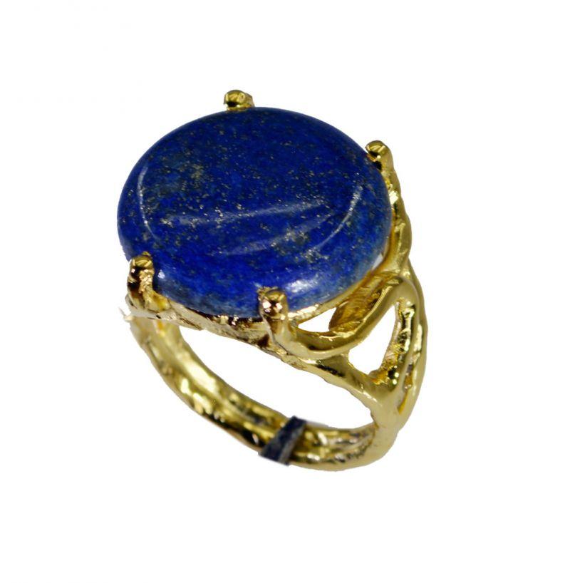 Buy Riyo Lapis Lazuli 18ct Ygold Plate Friendship Ring Sz 8 Gprlla8-44067 online