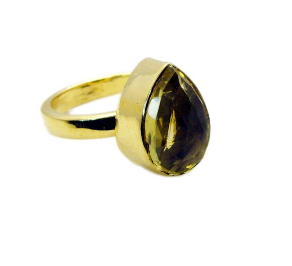 Buy Riyo Lemon Quartz Gold Plated India Classic Day Rings online