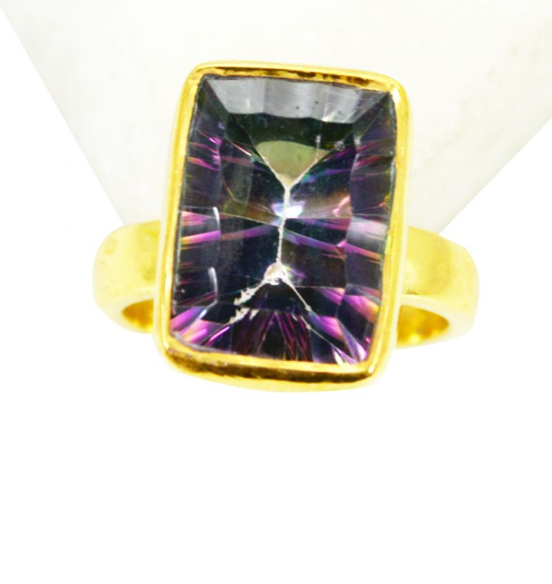 Buy Riyo Mystic Quartz 18 Ct Ygold Plating Purity Ring Jewelry Sz 5 Gprmqu5-54015 online