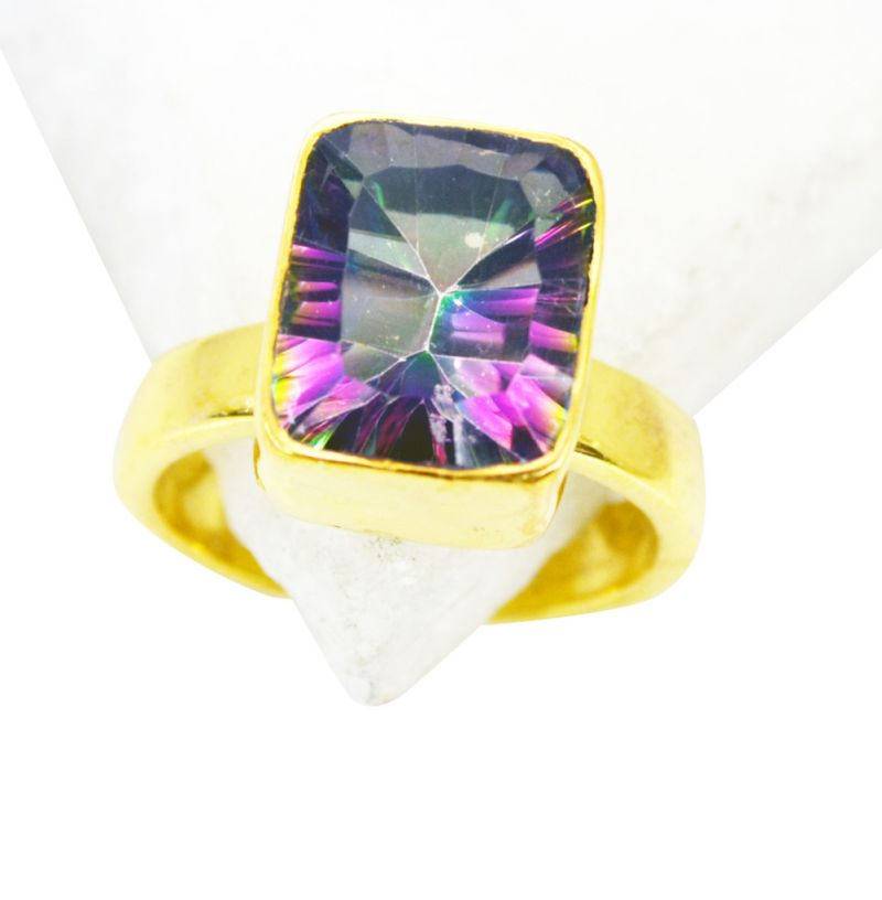 Buy Riyo Mystic Quartz 18kt Y Gold Fashion Toe Ring Jewelry Sz 6 Gprmqu6-54017 online