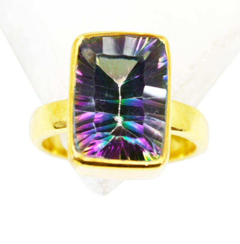 Buy Riyo Mystic Quartz 18k Gold Plating Ring Sz 7 Gprmqu7-54023 online