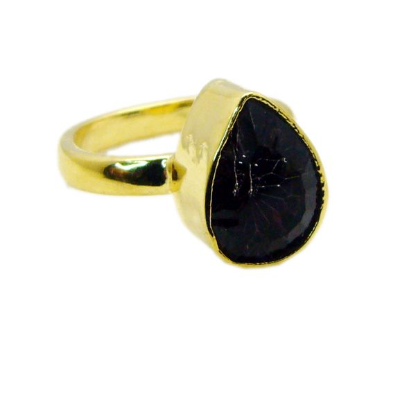 Buy Riyo Mystic Quartz 18 Ct Gold Plating Sports Ring Sz 8 Gprmqu8-54006 online