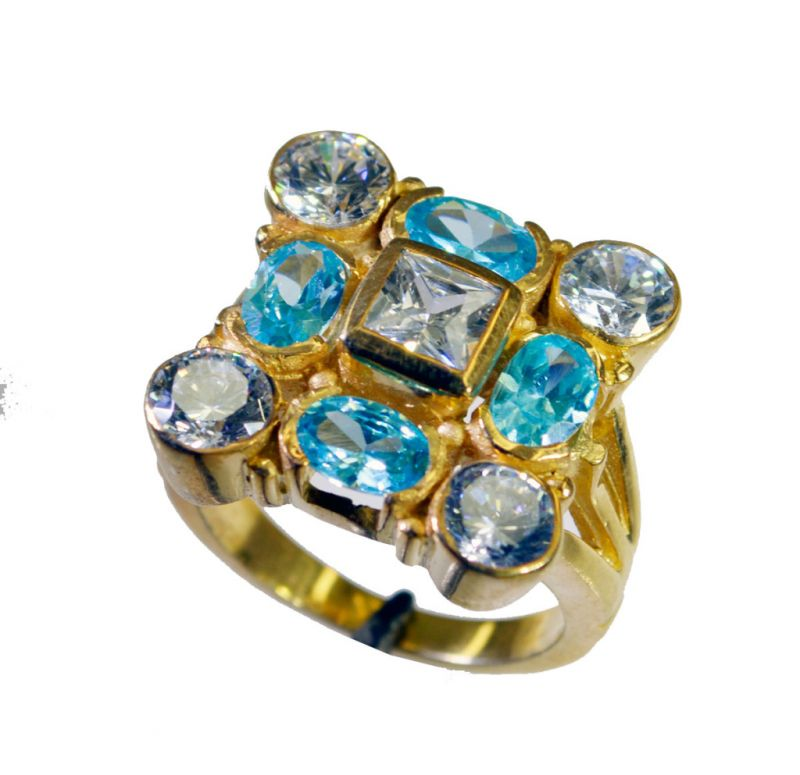 Buy Riyo Cz Gold Plate Jewelry Friendship Ring Sz 7 Gprmucz7-116051 online
