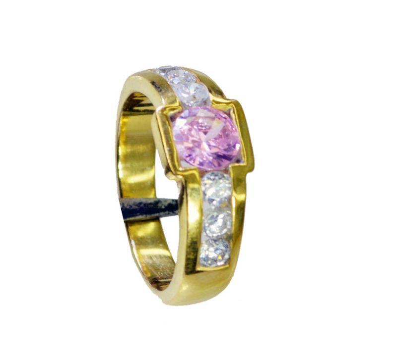 Buy Riyo Cz Gold Plate Thumb Ring Sz 7 Gprmucz7-116061 online