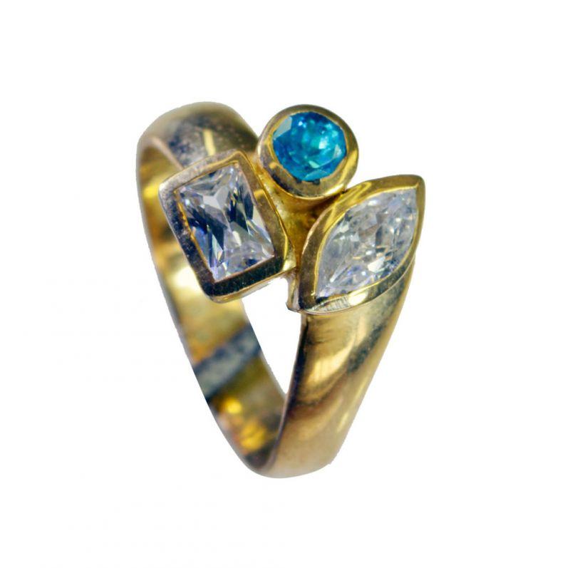 Buy Riyo Cz Gold Plated Promise Ring Sz 8 Gprmucz8-116034 online