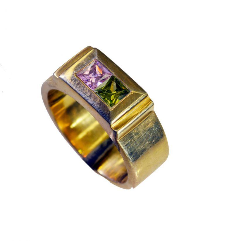 Buy Riyo Cz 18kt Gold Plating Sports Ring Sz 9 Gprmucz9-116027 online