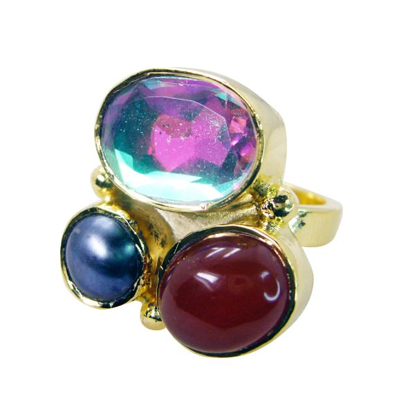 Buy Riyo Pearl Base Matel Friendship Ring Sz 6 Gprmul6-52012 online