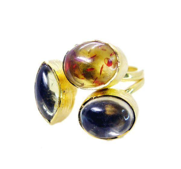 Buy Riyo Amber 18-kt Gold Platings Thumb Ring Sz 7 Gprmul7-52045 online