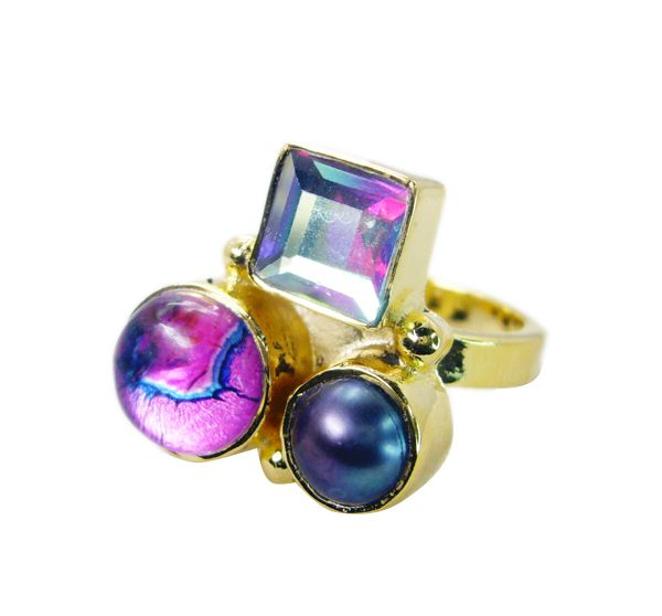 Buy Riyo Pearl Gold Plated Toe Ring Jewelry Sz 7 Gprmul7-52056 online