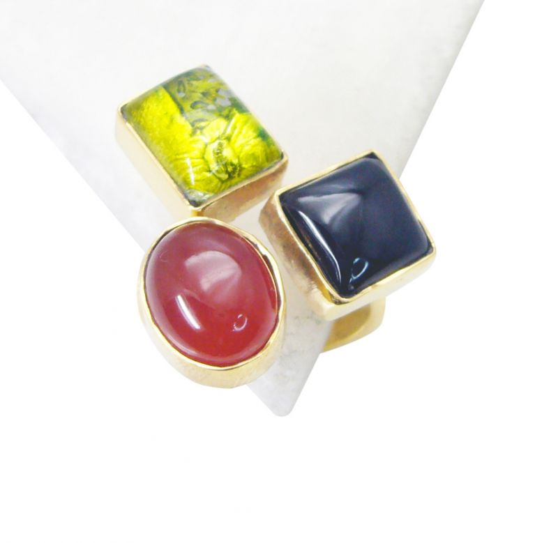 Buy Riyo Black Onyx Cheap Gold Plated Ring Sz 7 Gprmul7-52068 online