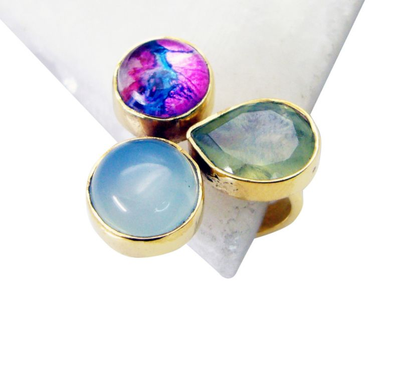 Buy Riyo Prehnite Gold Plated Indian Claddagh Ring Sz 7 Gprmul7-52074 online