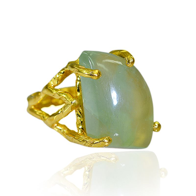 Buy Riyo Prehnite Gold Plated Jewelry Sovereign Ring Sz 6.5 Gprpre6.5-60037 online
