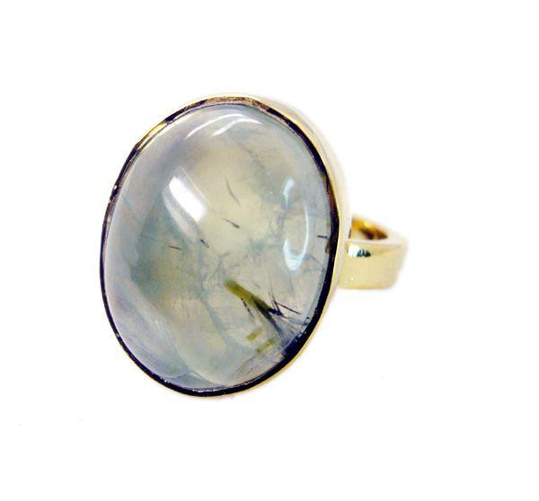 Buy Riyo Prehnite 18 Ct Y.g. Plated Engagement Ring Sz 7 Gprpre7-60020 online