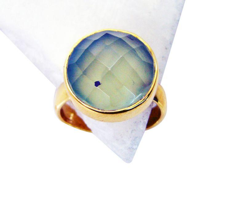 Buy Riyo Prehnite Cheap Gold Plated Posie Ring Sz 8 Gprpre8-60031 online